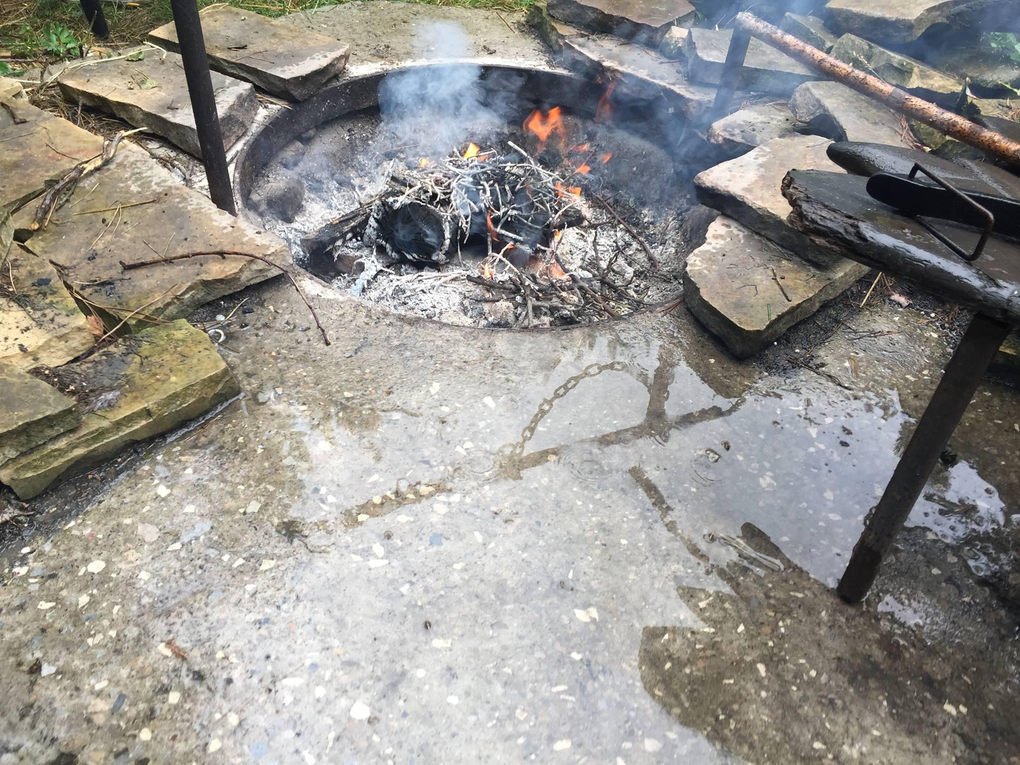 Ogień + deszcz :)